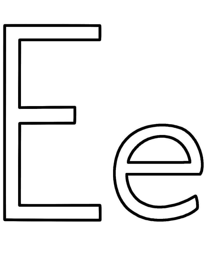 Desenhos de Letra E 2 para colorir