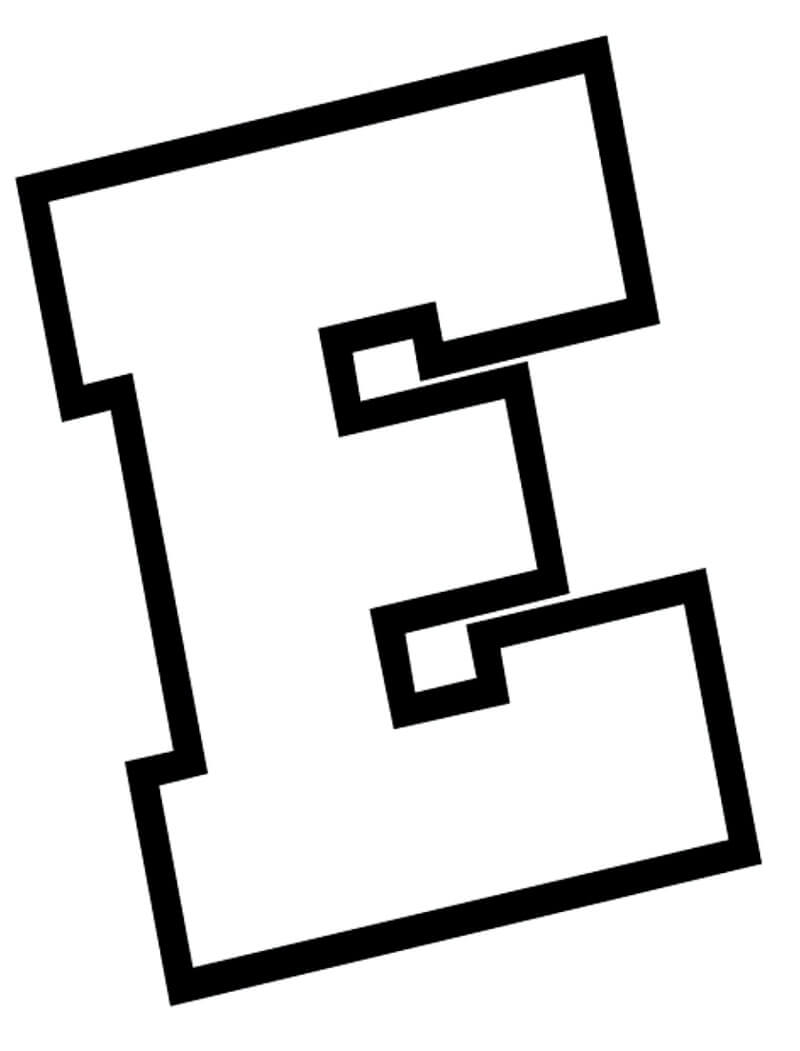 Desenhos de Letra E 3 para colorir
