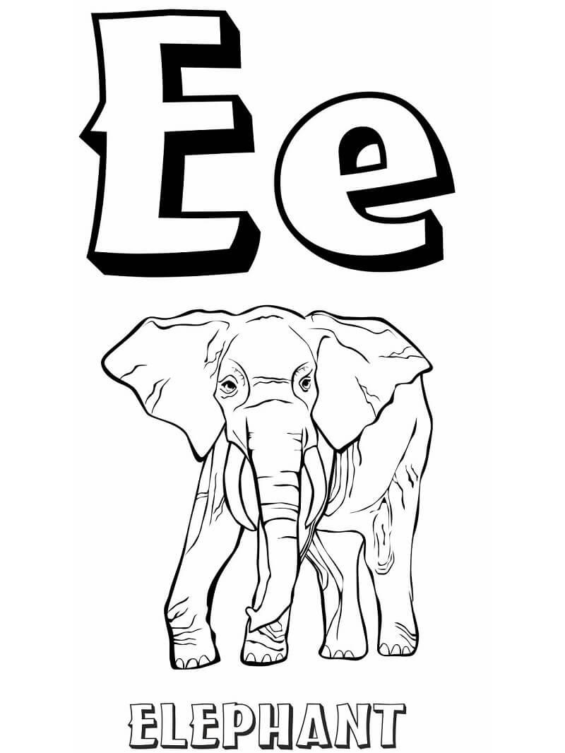 Desenhos de Letra E 4 para colorir
