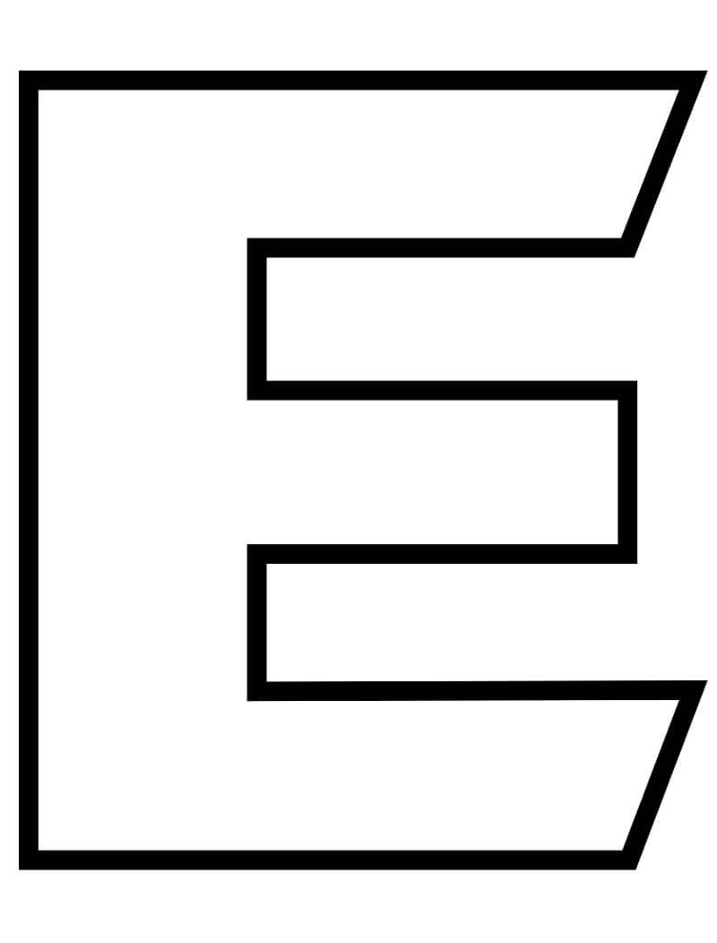 Desenhos de Letra E 5 para colorir