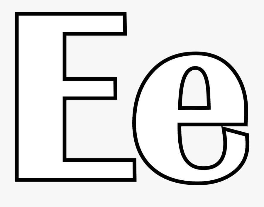 Desenhos de Letra E 6 para colorir