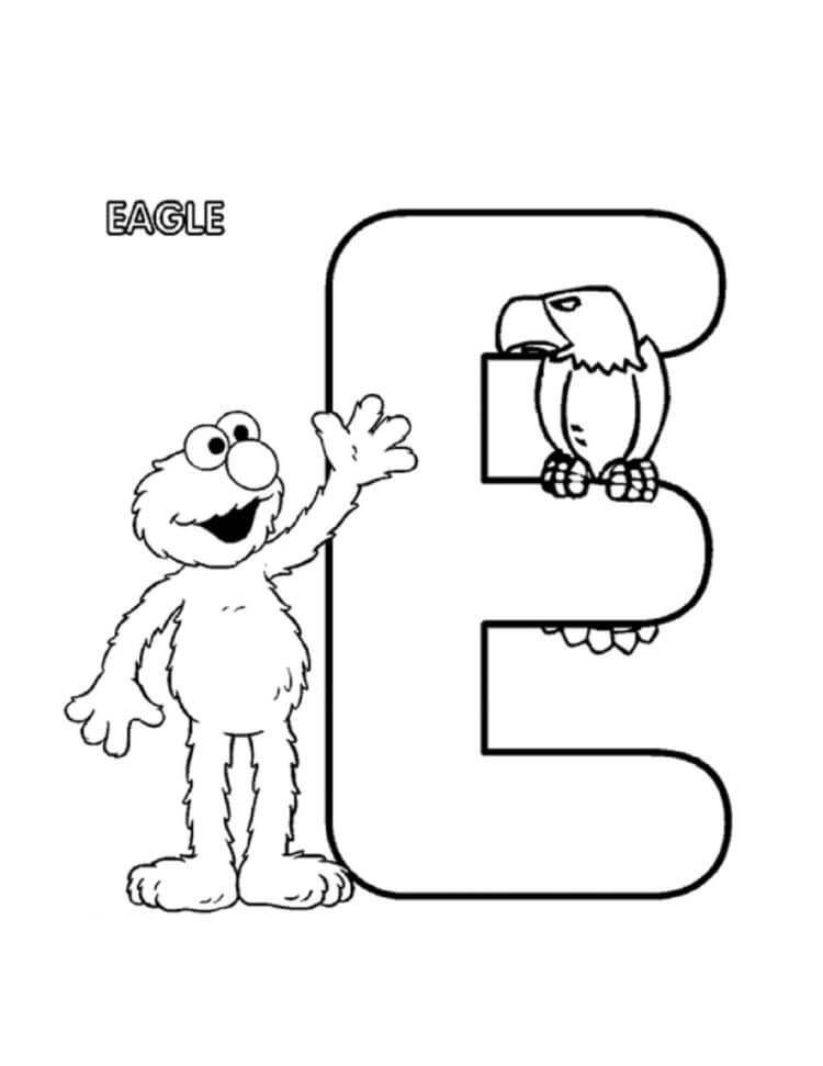 Desenhos de Letra E 7 para colorir