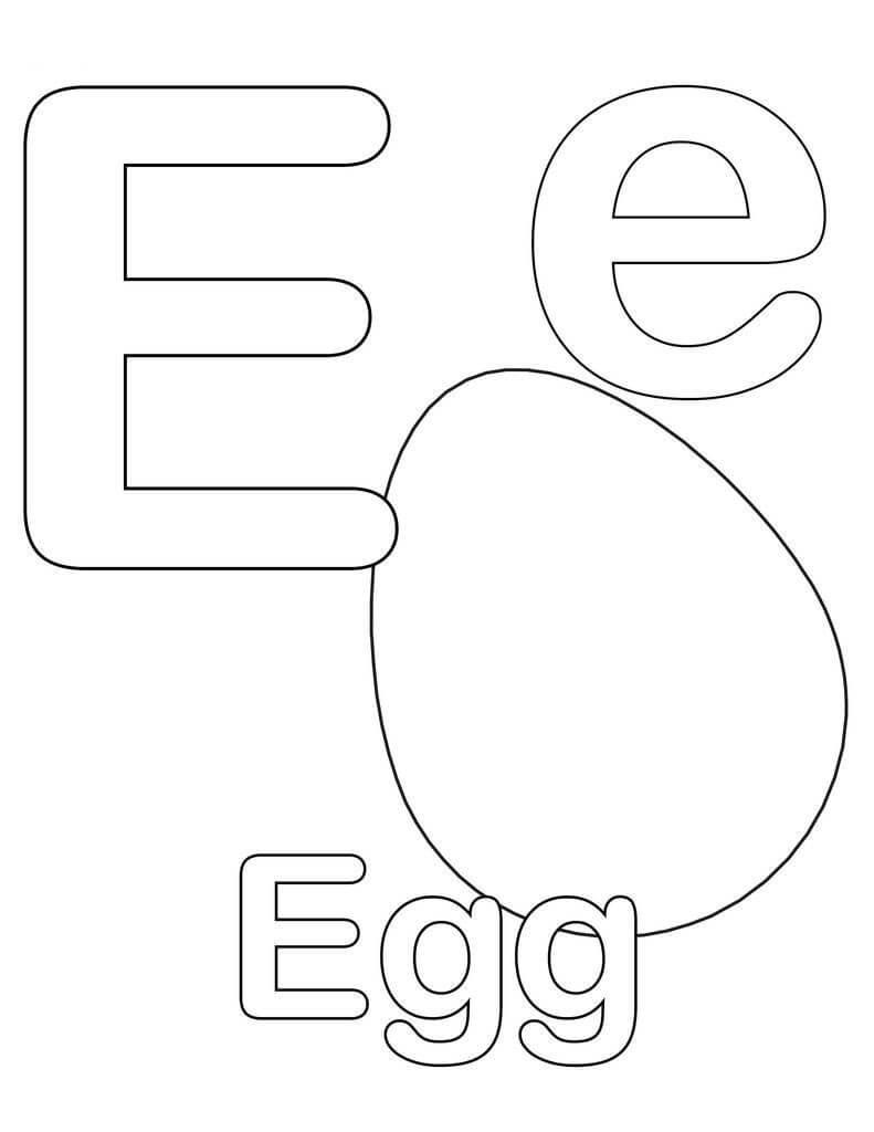 Desenhos de Letra E 8 para colorir