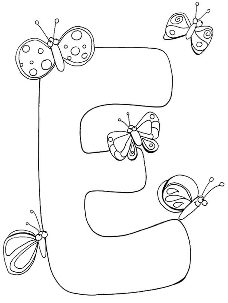 Desenhos de Letra E 9 para colorir
