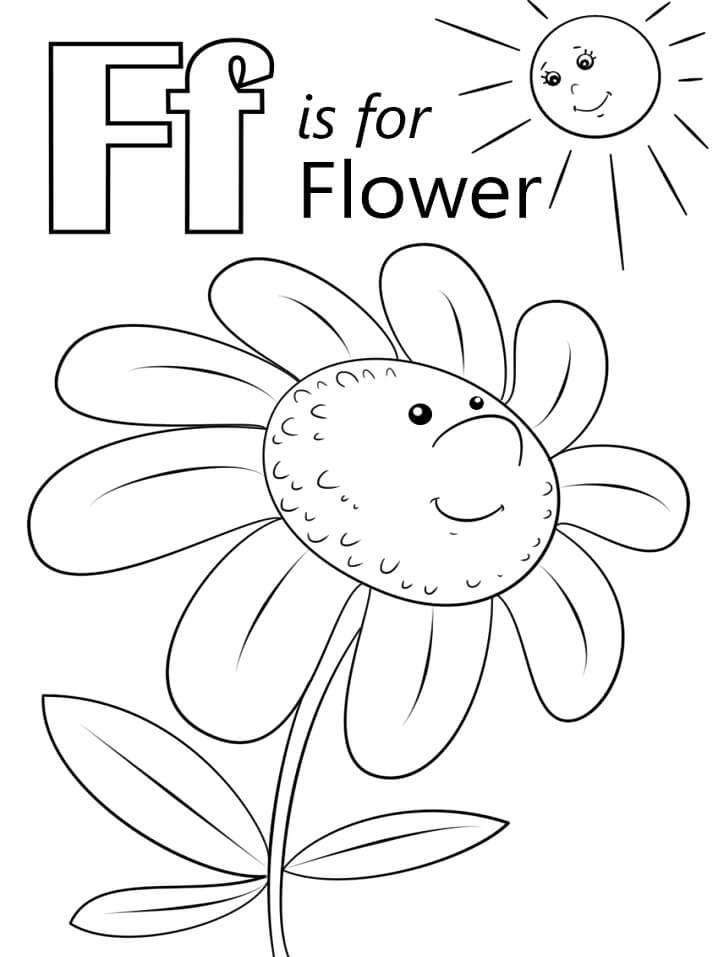 Desenhos de Letra F 1 para colorir