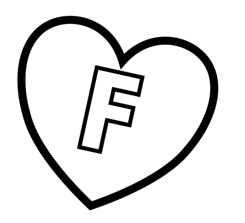 Desenhos de Letra F 11 para colorir