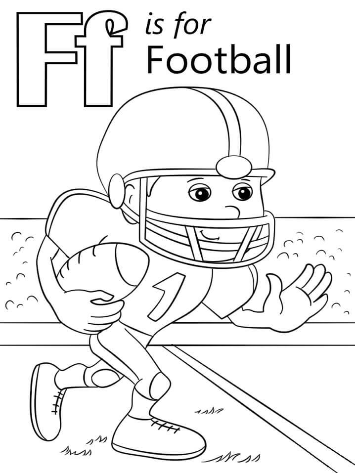 Desenhos de Letra F 12 para colorir
