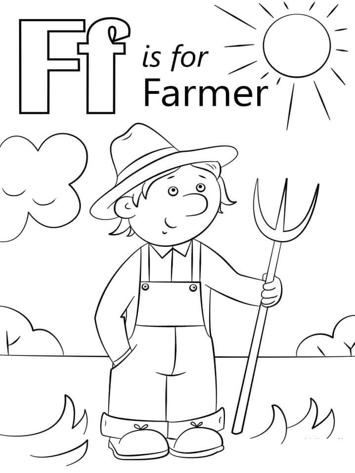 Desenhos de Letra F 15 para colorir