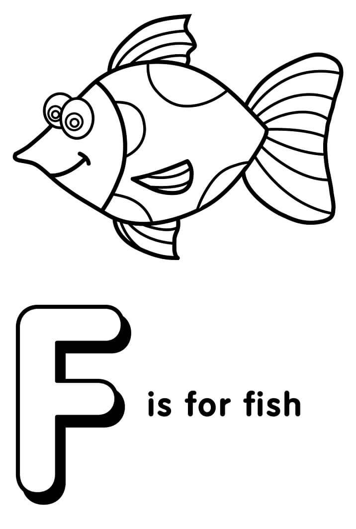 Desenhos de Letra F 19 para colorir