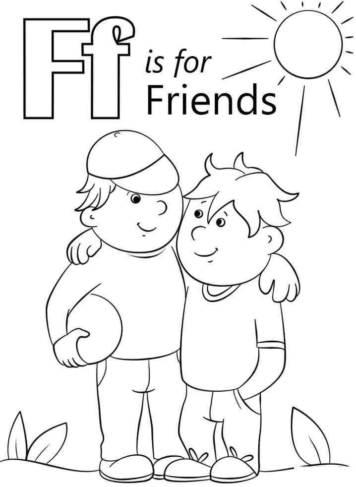 Desenhos de Letra F 3 para colorir