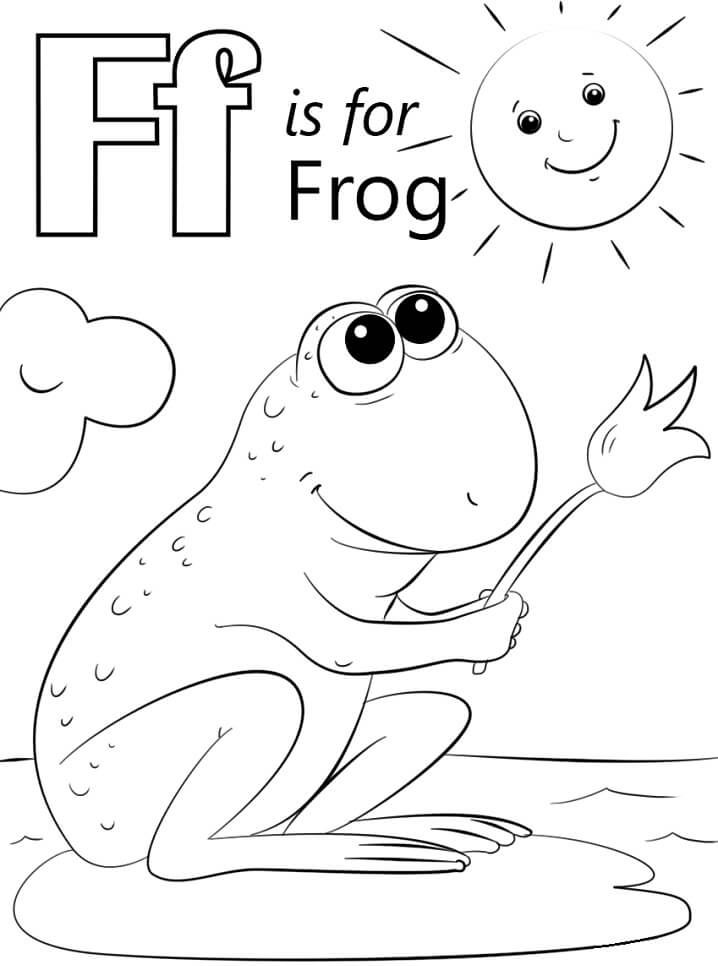 Desenhos de Letra F 4 para colorir