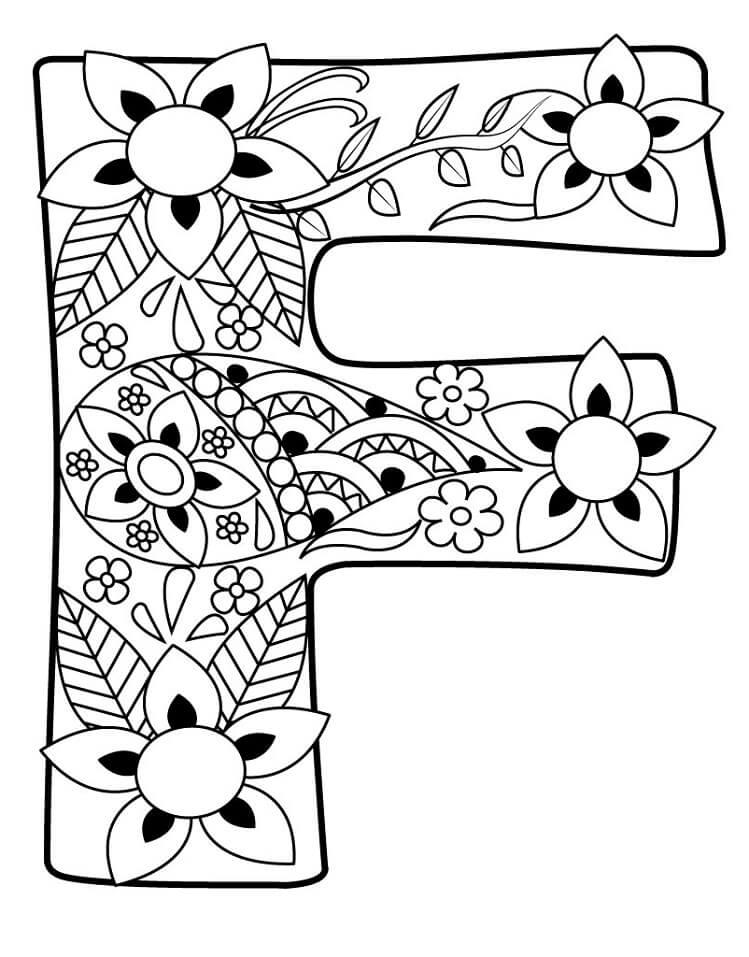 Desenhos de Letra F 6 para colorir