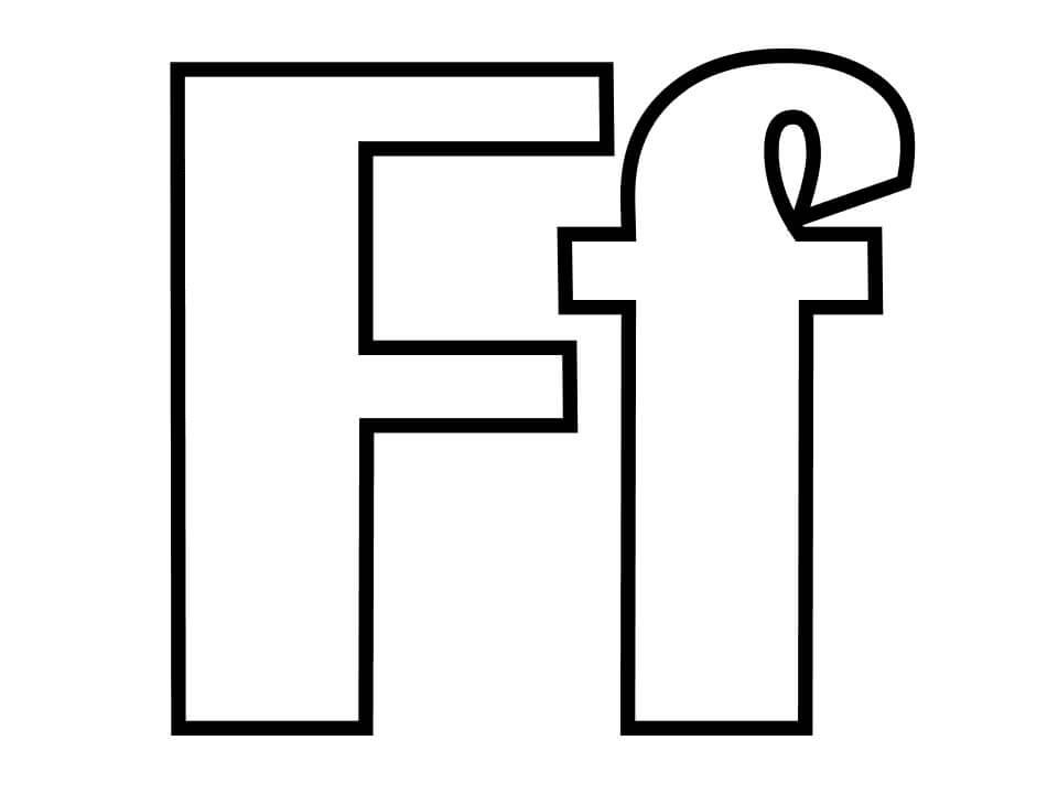 Desenhos de Letra F 9 para colorir