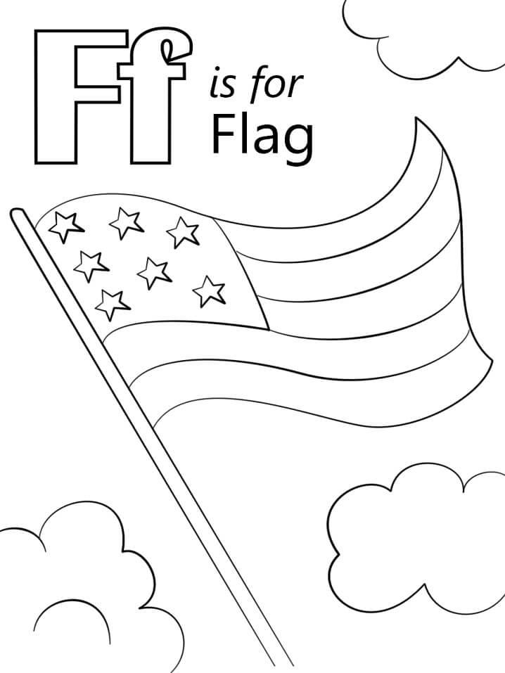 Desenhos de Letra F para colorir