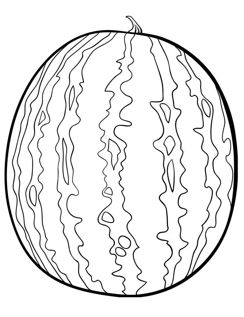 Desenhos de Melancia 1 para colorir