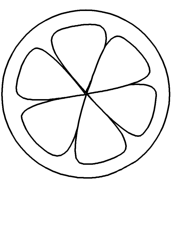 Desenhos de Metade da Laranja para colorir