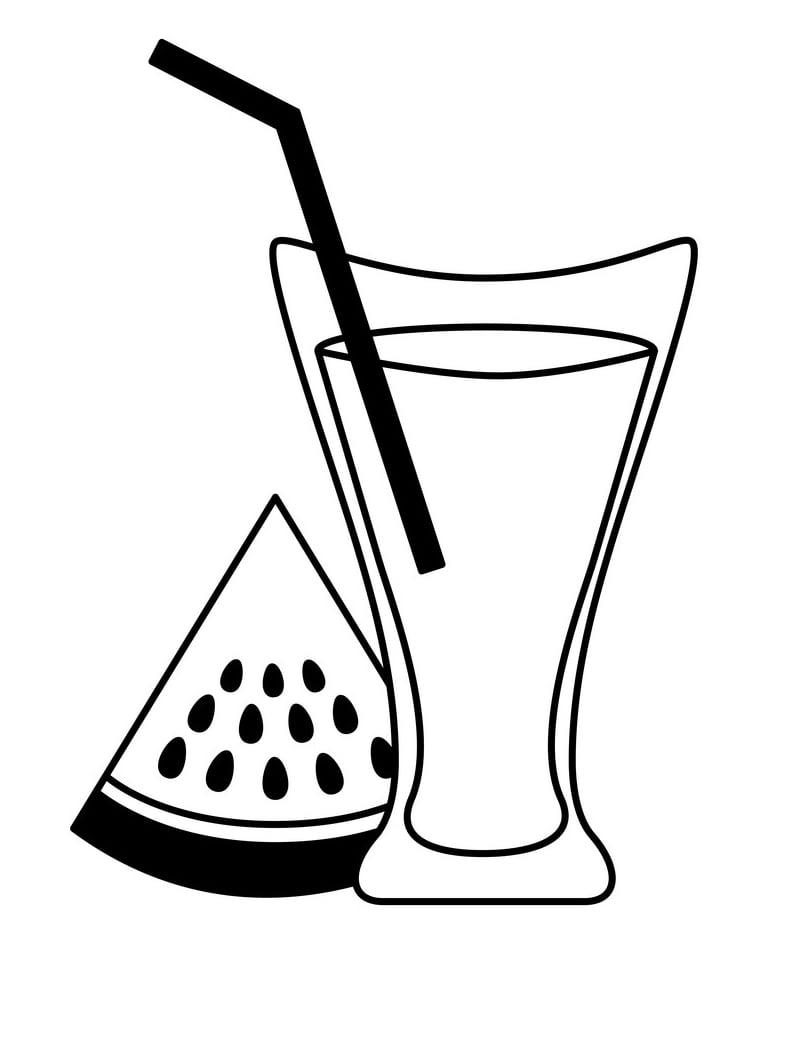 Desenhos de Suco de Melancia 1 para colorir