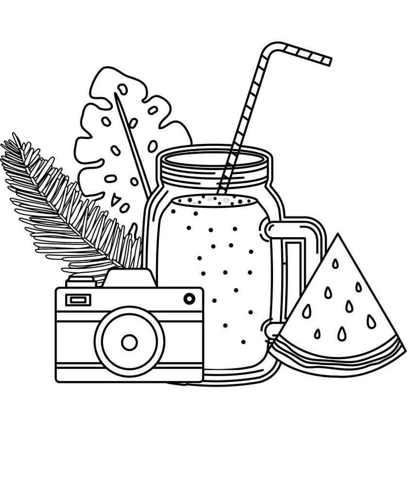 Desenhos de Suco de Melancia 2 para colorir
