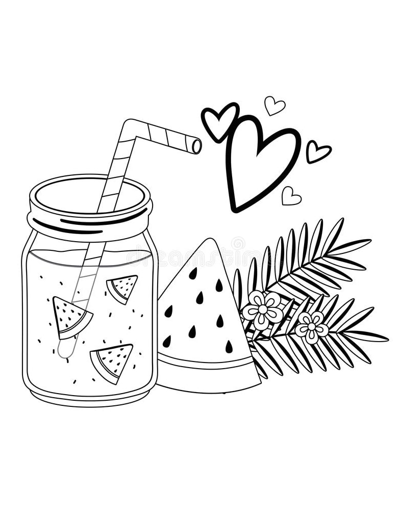 Desenhos de Suco de Melancia para colorir