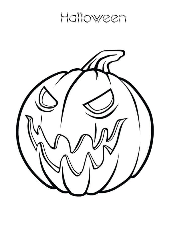 Desenhos de Abóbora de Halloween para colorir
