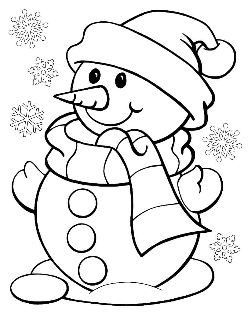 Adorável Boneco de Neve