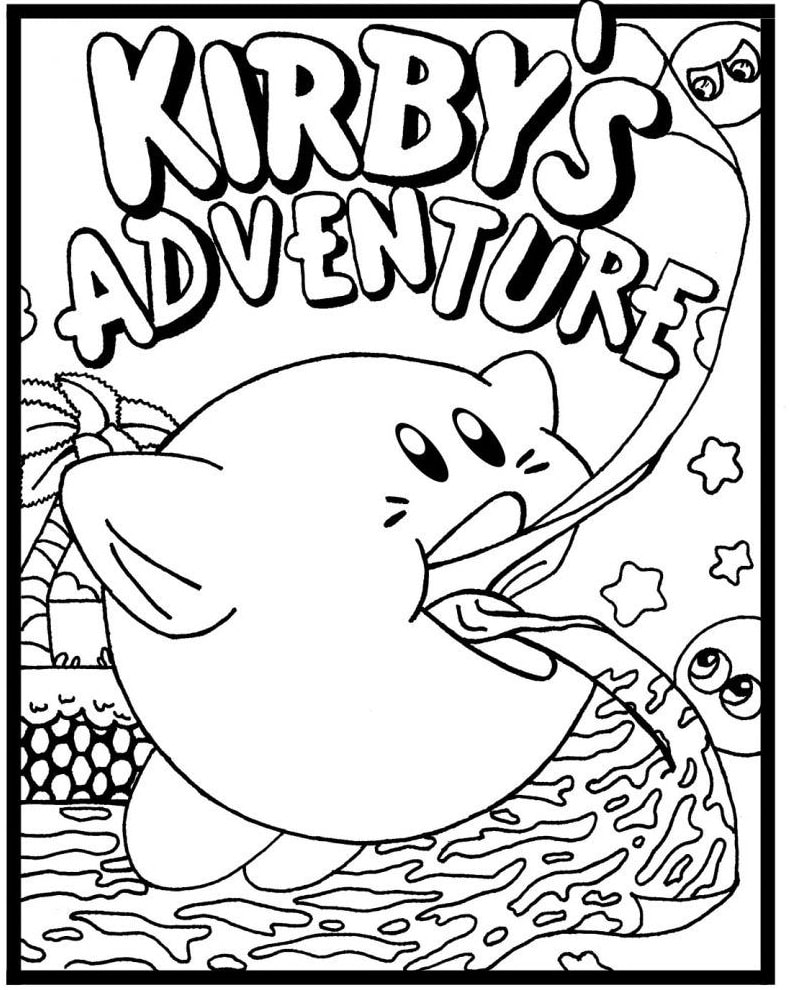 Kirby para Colorir