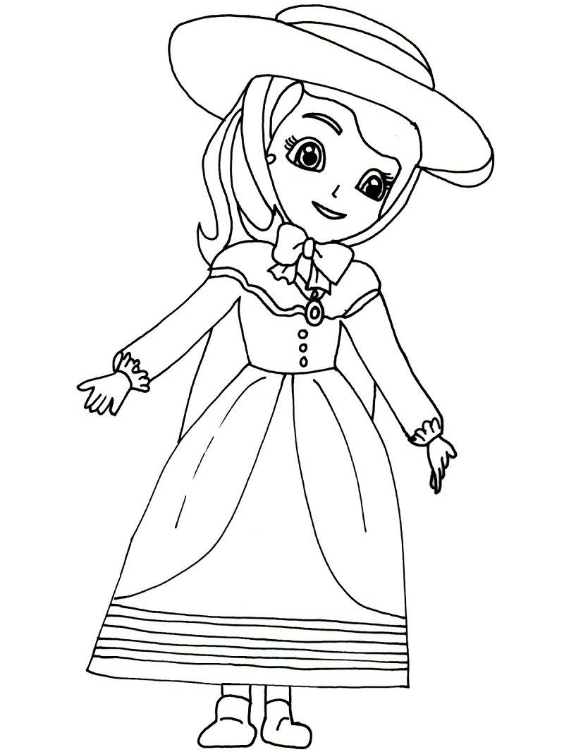 Desenhos de Adorável Princesa Sofia para colorir