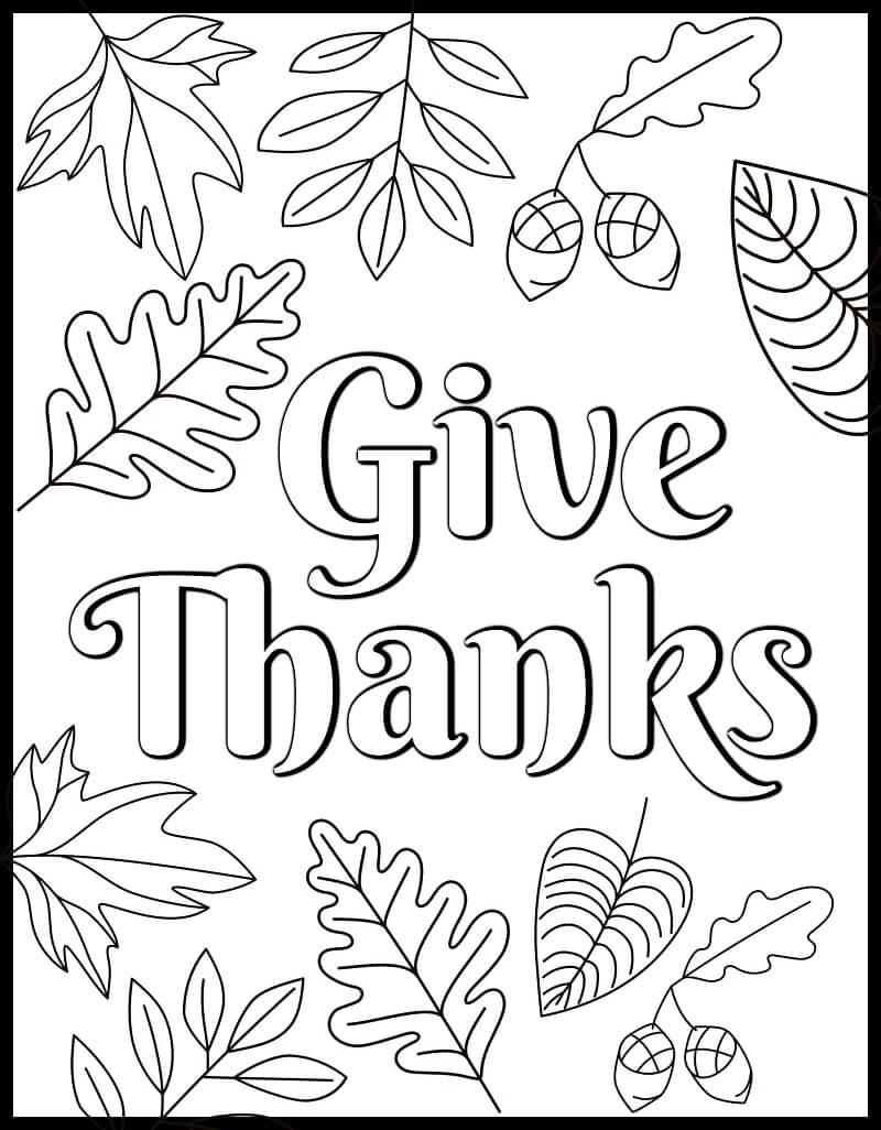 Desenhos de Agradeça para colorir
