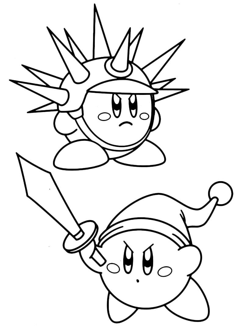 Desenhos de Ataque Kirby para colorir
