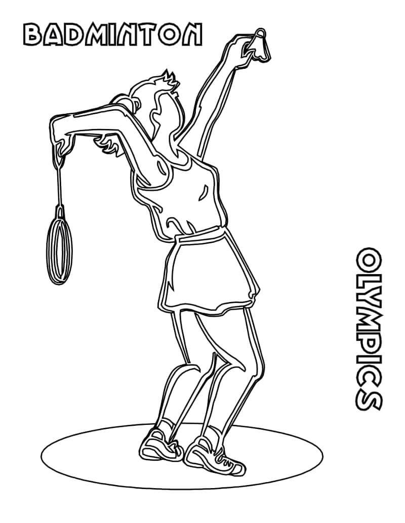 Desenhos de Badminton Olímpico para colorir