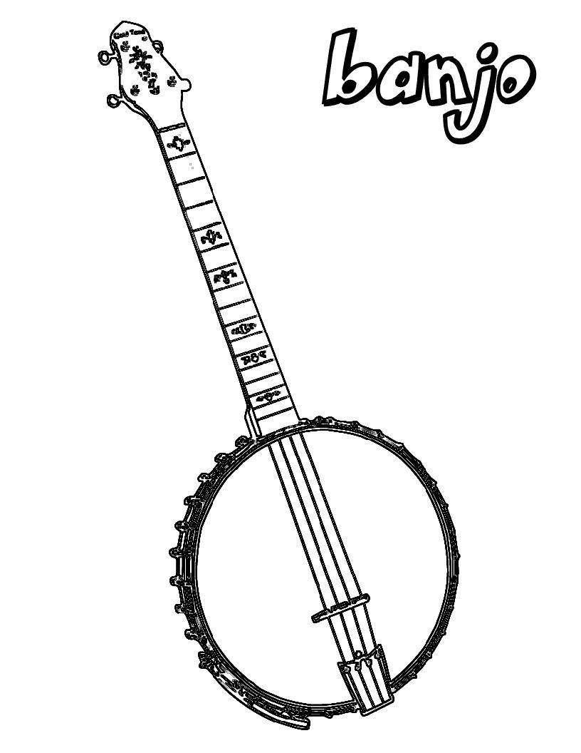 Banjo para Colorir