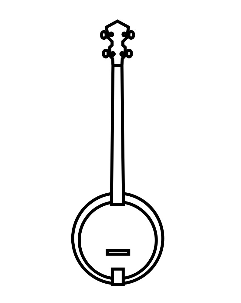 Desenhos de Banjo Simples para colorir