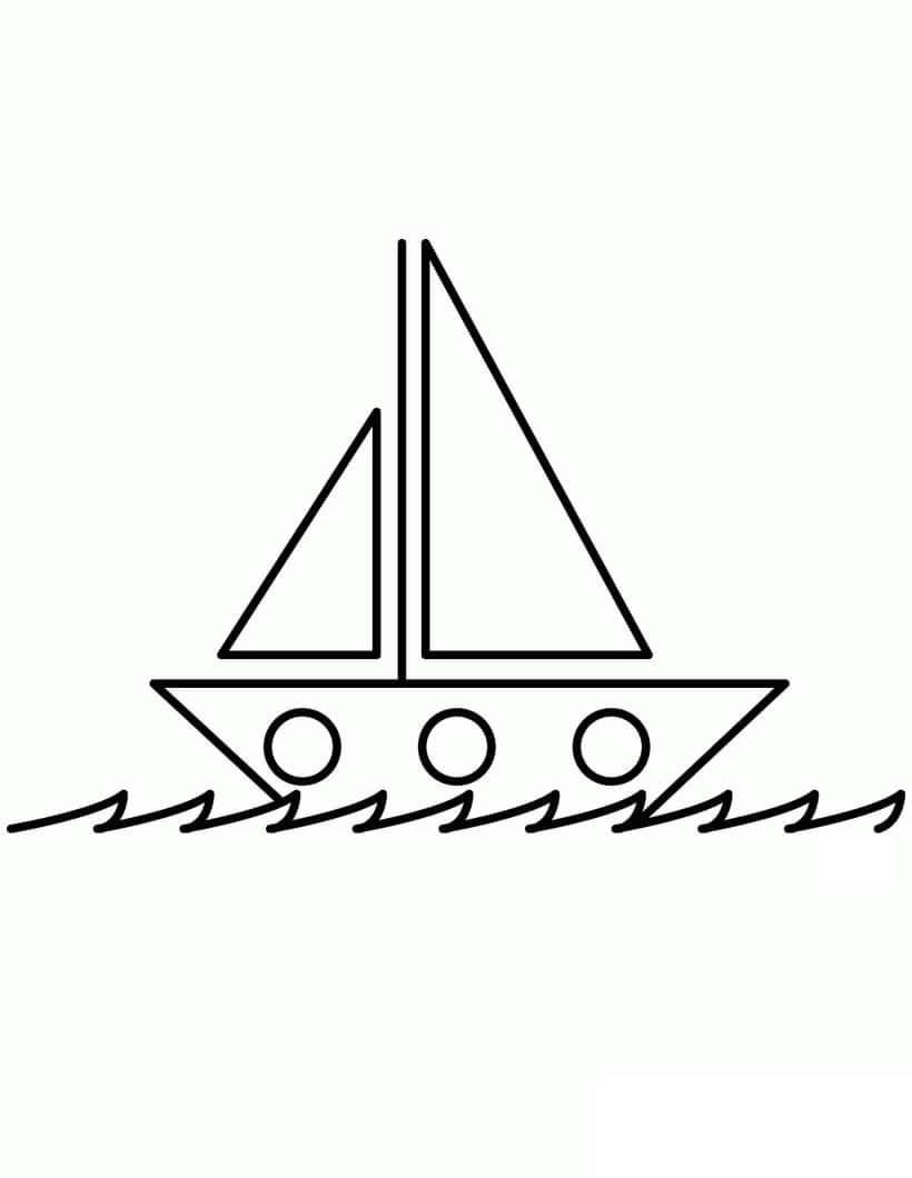 Desenhos de Barco Simples para colorir