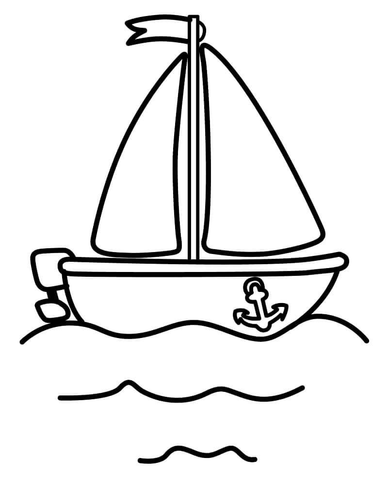 Desenhos de Barco a Vela para colorir