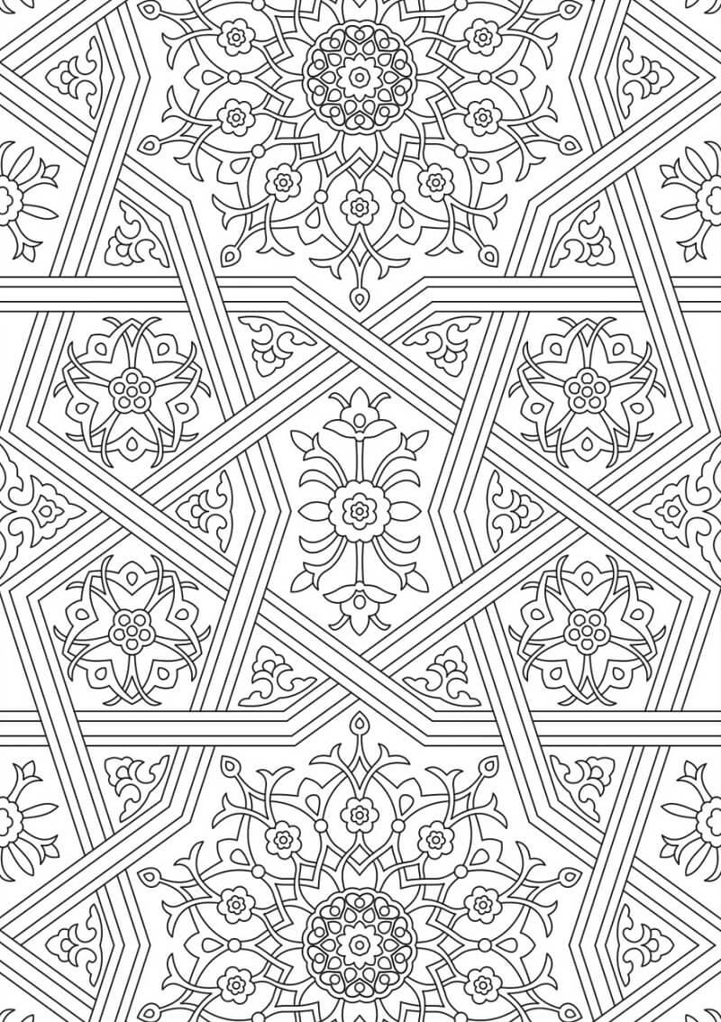 Desenhos de Belo Padrão para colorir