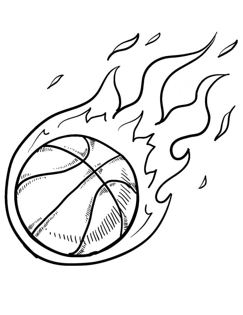 Desenhos de Bola de Basquete para colorir