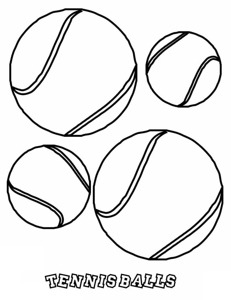 Desenhos de Bolas de Tênis para colorir