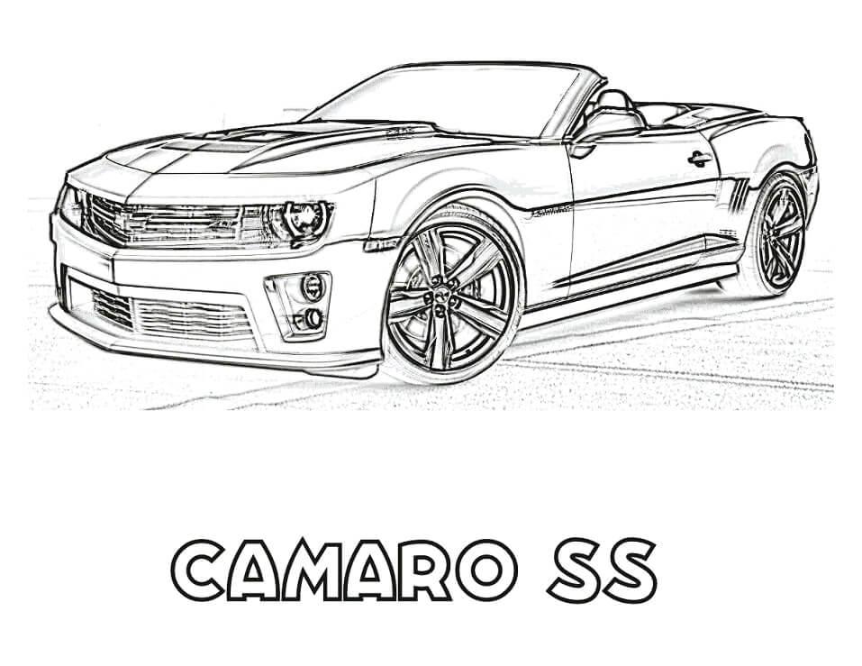 Desenhos de Camaro SS para colorir