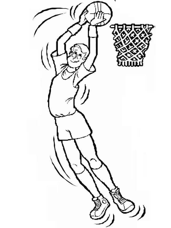 Desenhos de Cara Jogando Basquete 1 para colorir