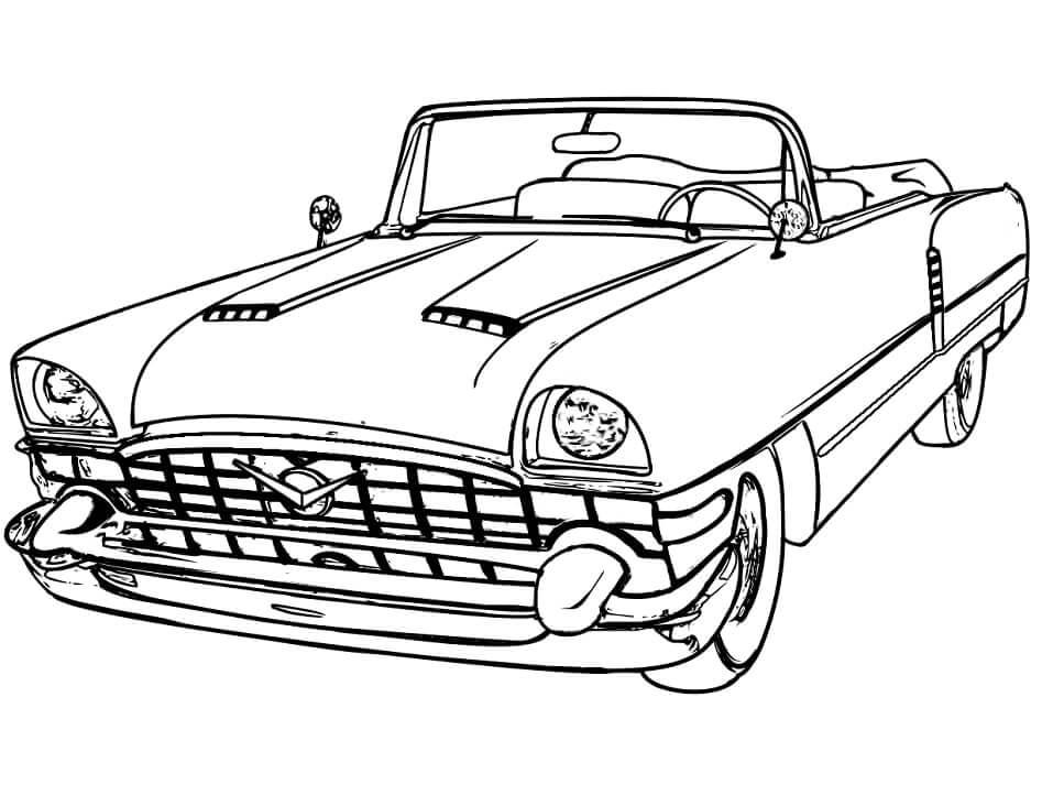 Desenhos de Carro Antigo para colorir