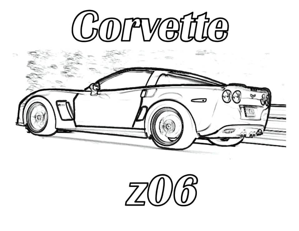 Desenhos de Carro Corvette para colorir