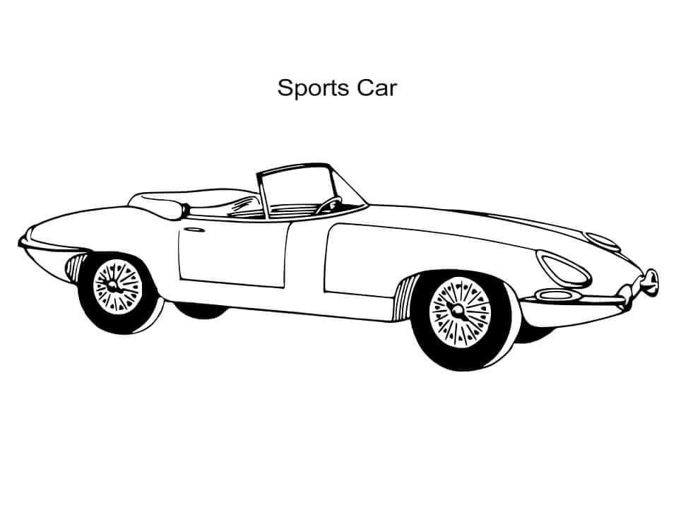 Desenhos de Carro Esporte Vintage para colorir
