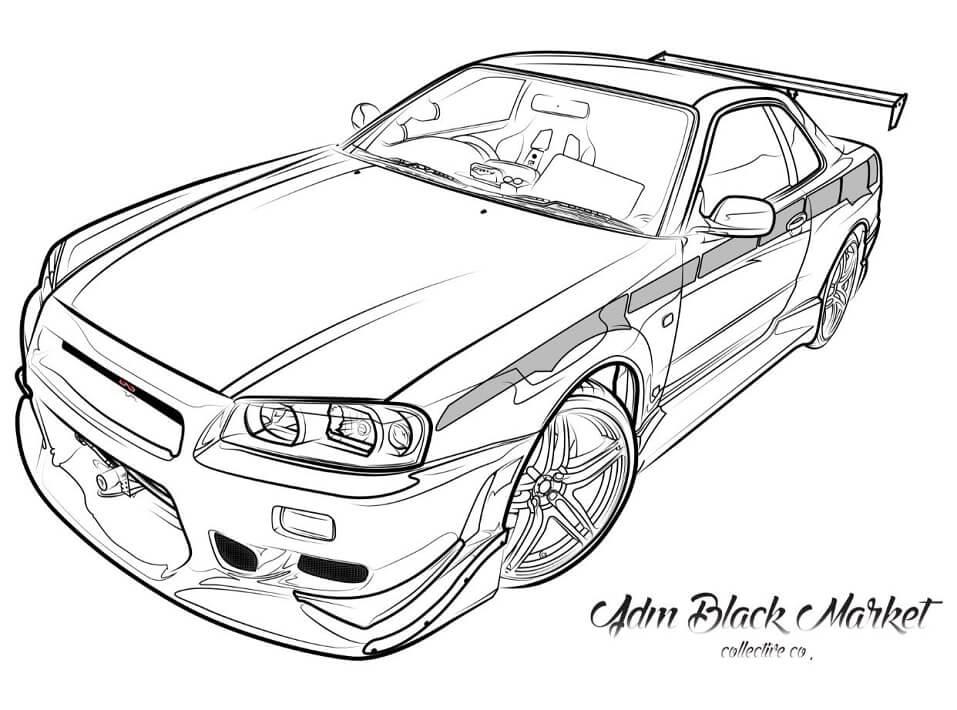 Desenhos de Carro Incrível para colorir