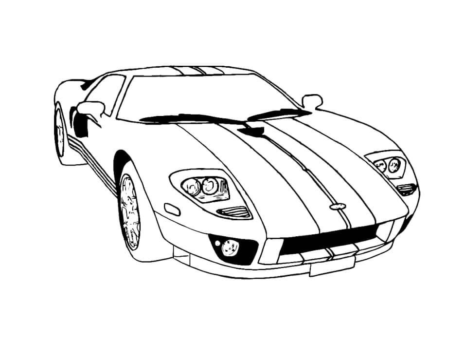 Desenhos de Carro Legal para colorir