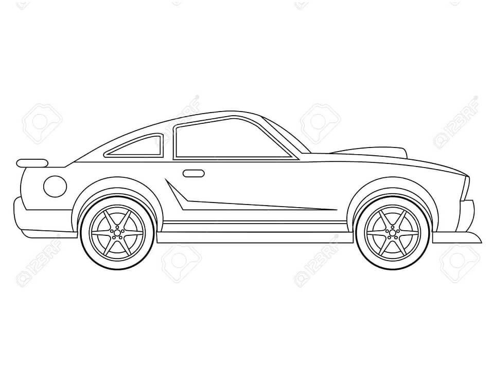 Desenhos de Carro Normal para colorir