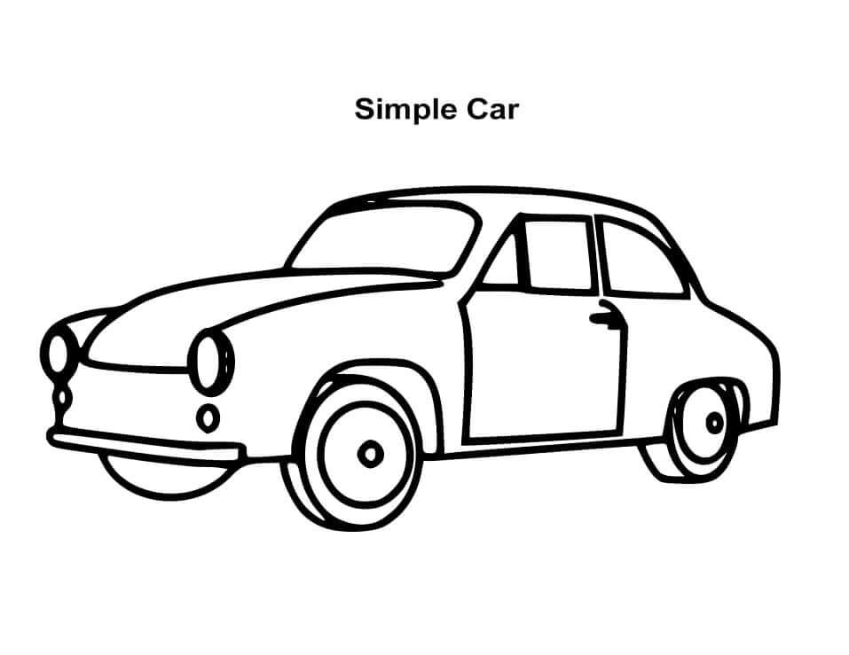 Desenhos de Carro Simples para colorir