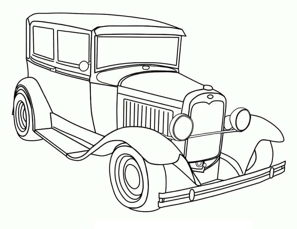 Desenhos de Carro Velho para colorir
