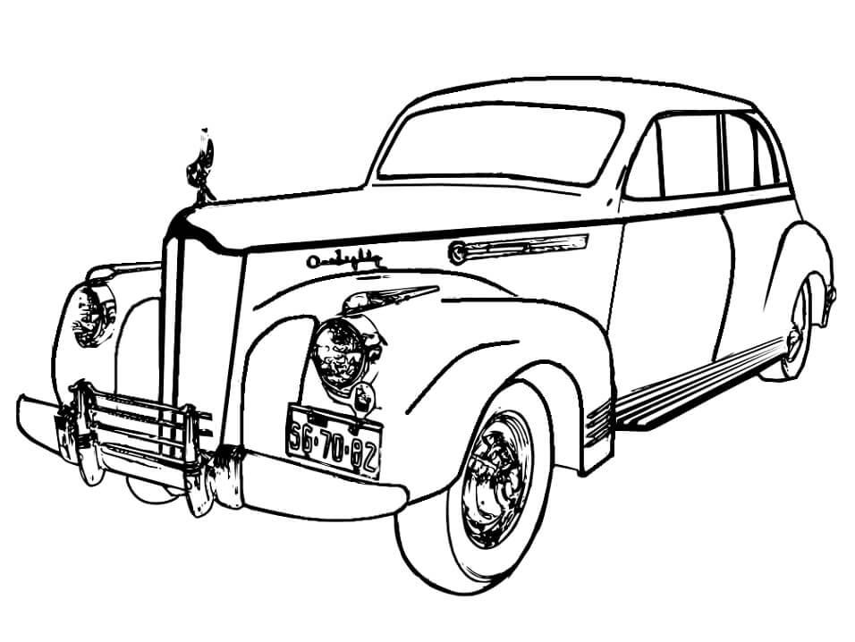 Desenhos de Carro Vintage para colorir