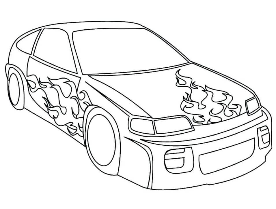 Desenhos de Carro de Corrida 1 para colorir