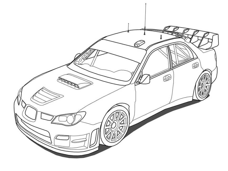 Desenhos de Carro de Corrida 2 para colorir